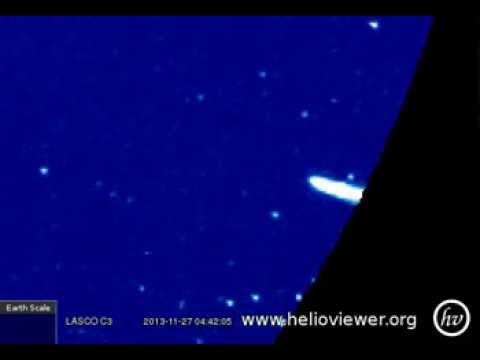 Ο κομήτης ISON σε LASCO C3 (2013-11-25 12:42:05 - 2013-11-27 09:30:05 UTC)