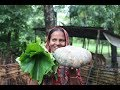Village food | Ash gourd gourd leaf pakora | Grandmother recipes-102