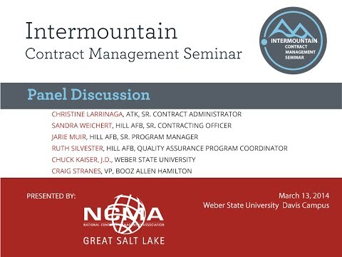 Great Salt Lake NCMA/ICSM Panel Discussion: Successful Contract Performance