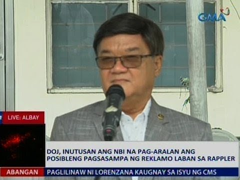 Saksi: DOJ, inutusan ang NBI na pag-aralan ang posibleng pagsasampa ng reklamo vs. Rappler