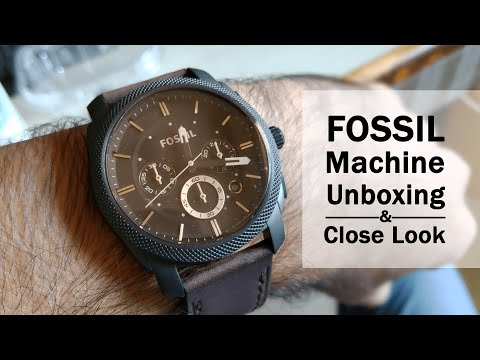 FOSSIL FS4656 Machine - Watch Before Buying This Men's Analog Watch - Unboxing & Close Look