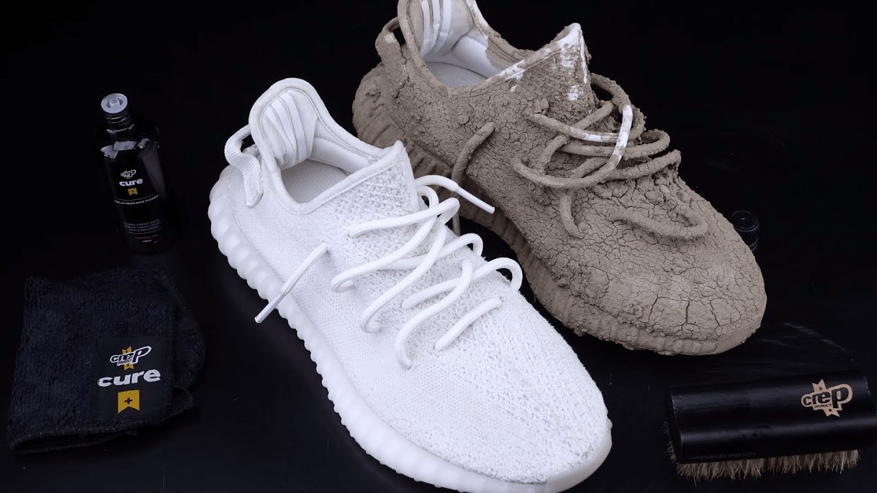 2d736ca2ed1a0 How To Clean Yeezy 350 V2 Cream White vs Mud - Crep Protect Cure ...