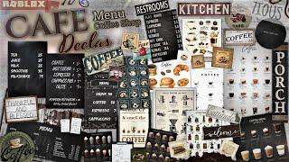 Decals Codes Cafe  Coffee Shop &amp Menu  Decals Ids  Bloxburg ROBLOX