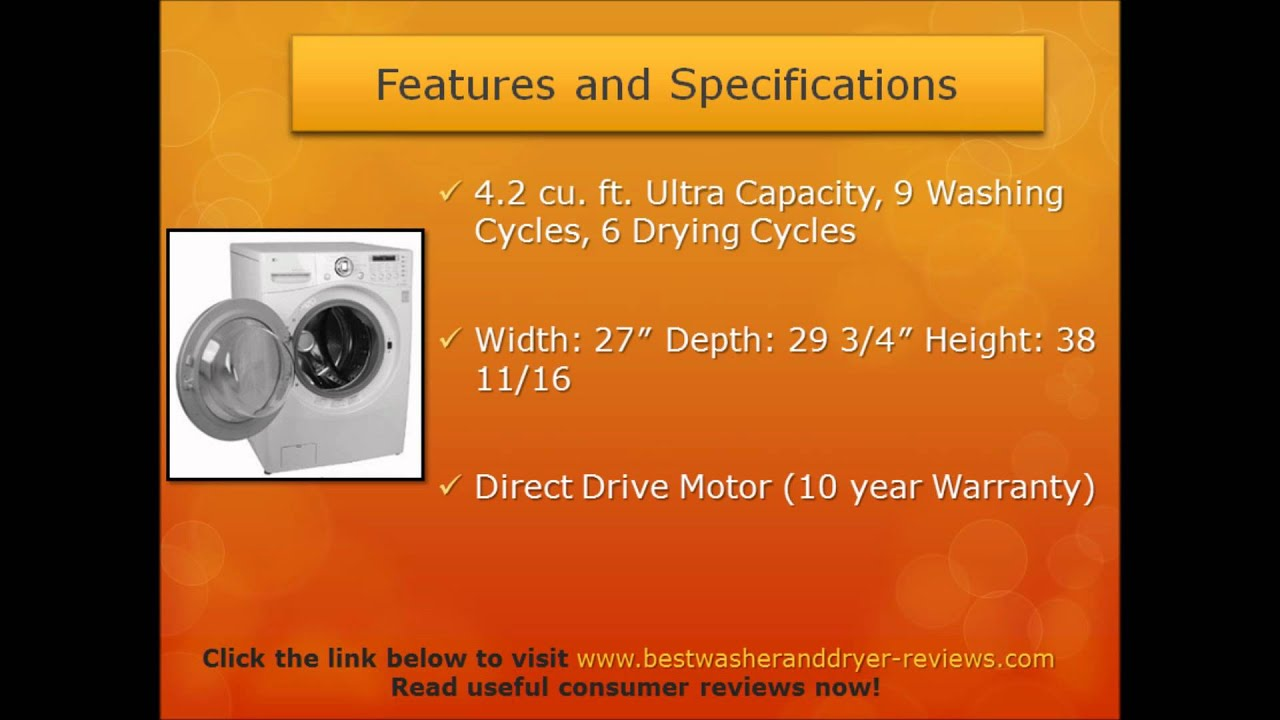 Consumer Reviews LG WM3987HW Front Load Washer Dryer bo