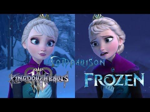 Kingdom Hearts 3 vs Frozen – Let it Go Comparison