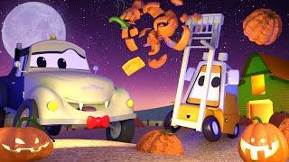 У малыша Френсиса тыквы застряли в подъёмнике - Автомойка Эвакуатора Тома 💧 детский мультфильм
