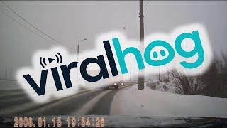 Sliding Truck Nearly Hits Car || ViralHog