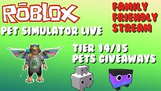 Yes Mic!|Roblox Live #13|Free Pets Giveaways On Pet Simulator| Road to 1.4k Subs! (ROBLOX)