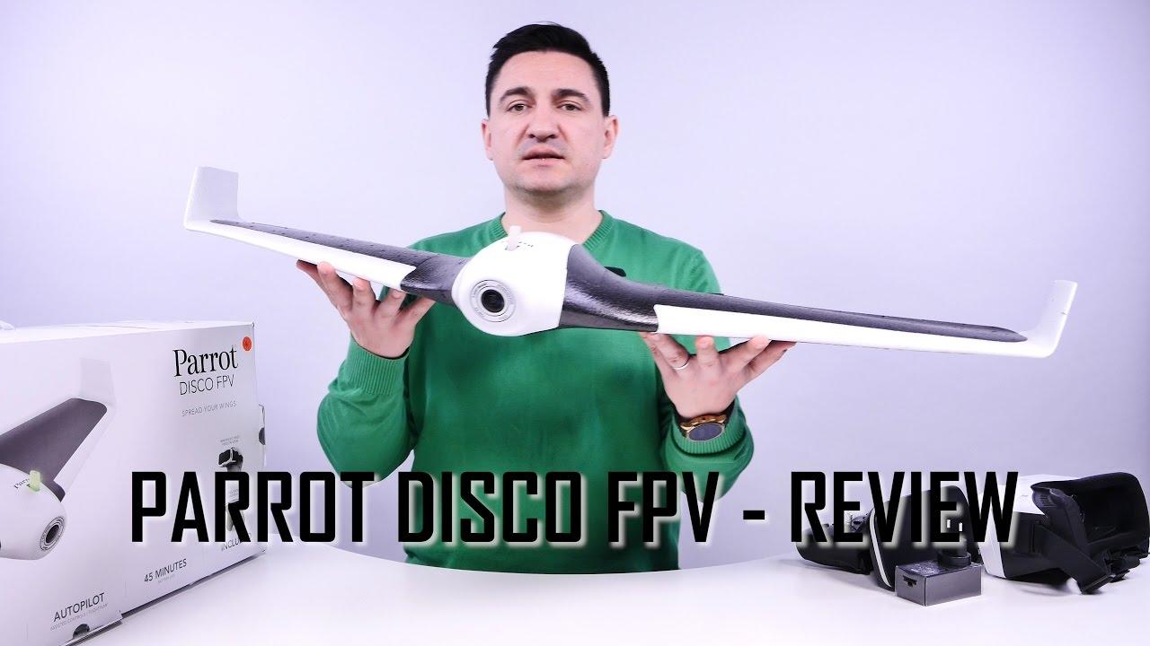 UNBOXING & REVIEW - Parrot Disco FPV - Drona cu senzații tari (www.buhnici.ro)