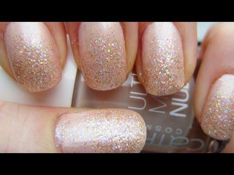 Nude Glitter Princess Nails Prom Weddings