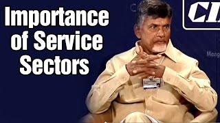 Chandrababu at World Economic Forum : Service sectors provide more income and employment