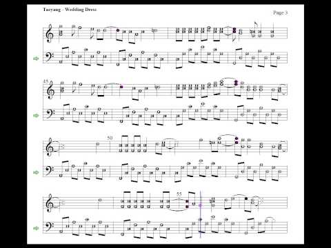 Taeyang - Wedding Dress ( piano cover with sheet music )