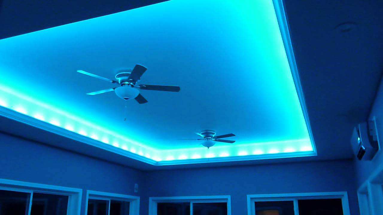 Crazy lights led indirect lighting for the ceiling youtube aloadofball