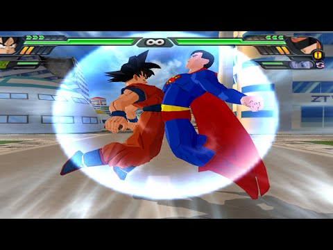 Goku And Superman Fusion | Gok-El Vs Great Saiyaman  DBZ Budokai Tenkaichi 3 (MOD)
