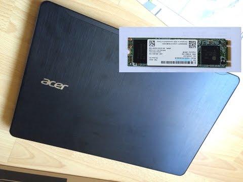 SSD Installation on ACER Laptop - SSD Установка на ноутбуке ACER