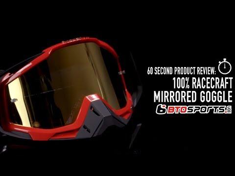 "100/% Racecraft Dirt Bike Motocross MX Goggle Mirrored Lens /"" Hot Rod /"""