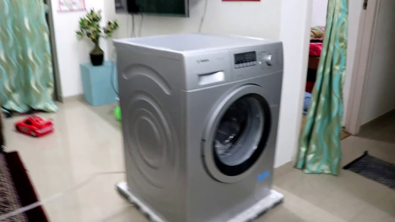 unboxing and full review bosch washing machine series 4 wak24268in youtube. Black Bedroom Furniture Sets. Home Design Ideas