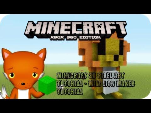 Minecraft 3d Pixel Art Tutorial Mini Lion Maker Tutorial