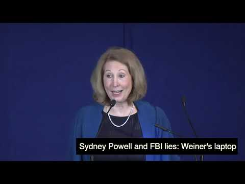 Sidney Powell on Anthony Weiner's laptop, Hillsdale College