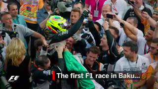 Sergio Perez Stars In The First F1 Race In Baku | 2016 European Grand Prix