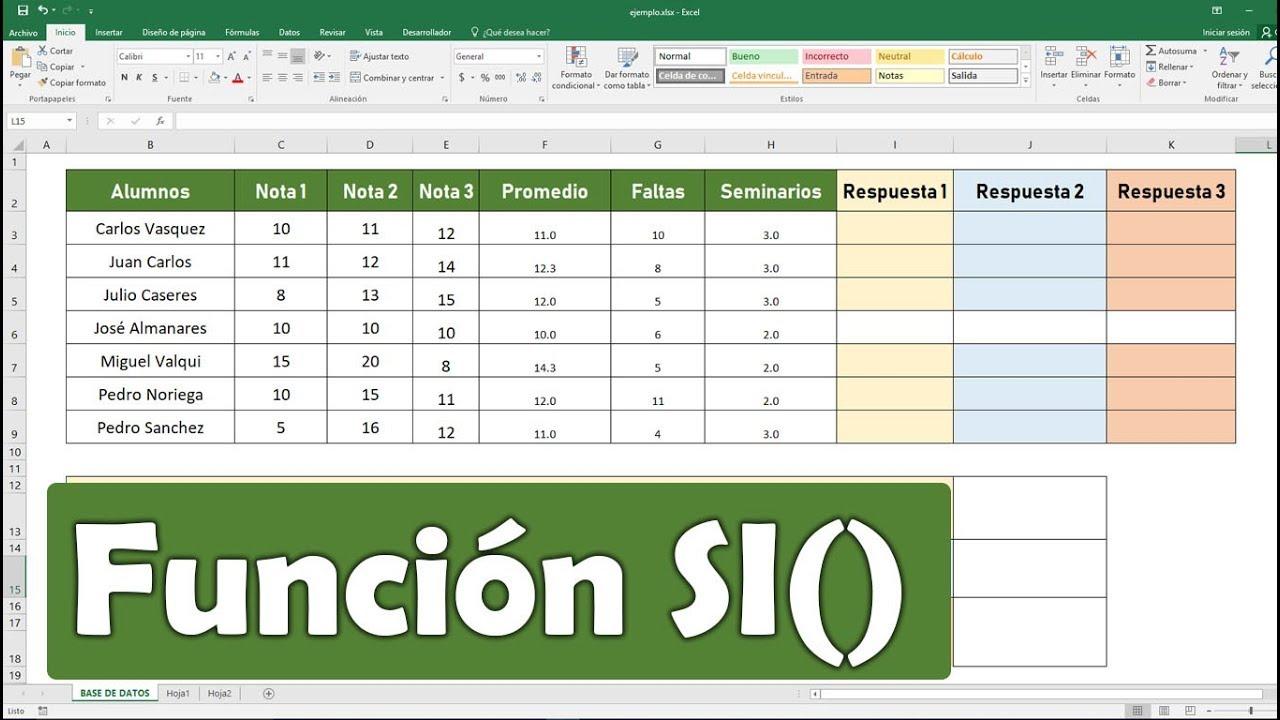 Curso Excel   Función si con varias condiciones