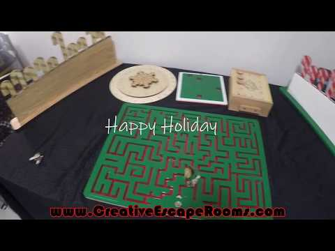 Christmas Themed Escape Room Puzzles And Props