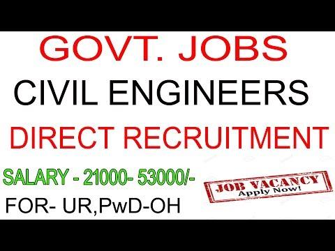 govt job for civil engineer || civil engineering jobs || job vacancy ---