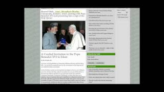 Muslims inviting Pope Benedict XVI to Islam NEW