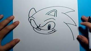 Como dibujar a Sonic paso a paso - Sonic | How to draw Sonic - Sonic(Una forma sencilla y rapida de hacer un dibujo del personaje de Sonic en poco tiempo y de forma facil. Musica : byebyecopyright Cancion : Max$Million$Music ..., 2014-02-26T13:00:15.000Z)