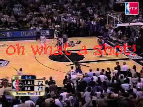 18 Sec of 2004 NBA Playoffs LAL vs SAS