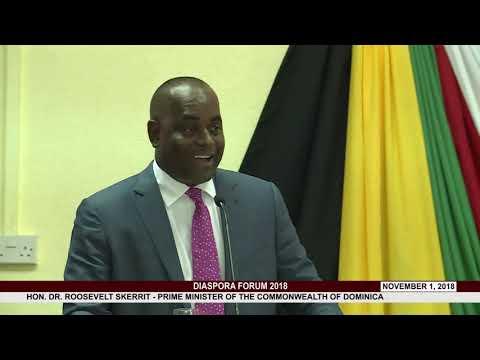 HON  PRIME MINISTER DR. ROOSEVELT SKERRIT ADDRESSES DIASPORA FORUM 2018