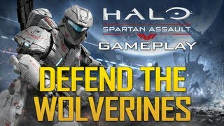 """Halo: Spartan Assault Gameplay! """"Defend The Wolverines"""""""