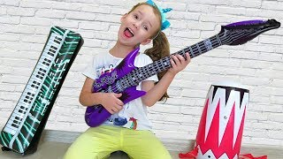Ulya Pretend Play Talent Show with Musical Instruments Toys for Kids
