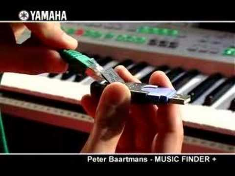 Peter Baartmans and the Yamaha MUSIC FINDER +