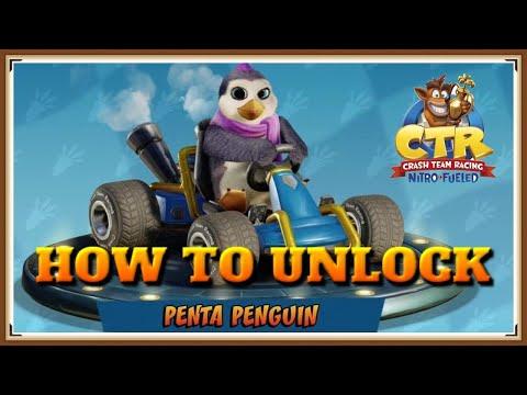 Crash Team Racing Nitro Fueled - How To Unlock Penta Penguin - Secret Character Unlock Code