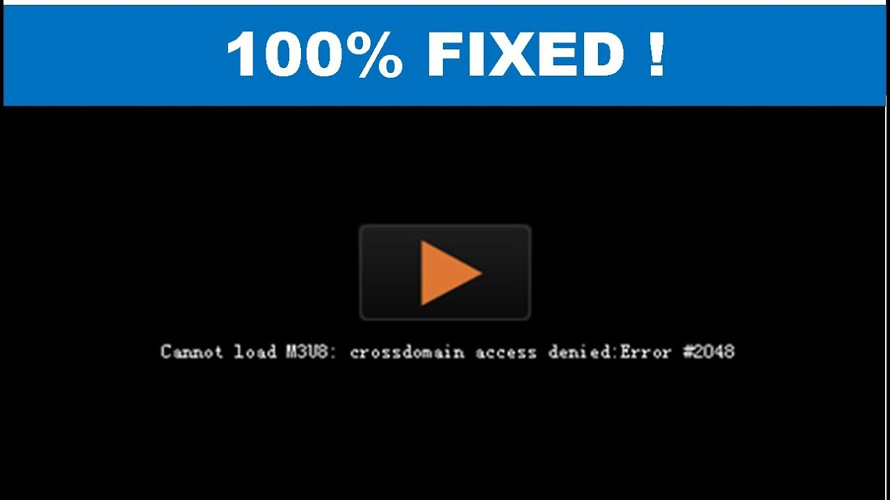 How To Fix Cannot Load Video Error M3U8 In Windows 10 8 7 and Google Chrome  (100% Working Method)