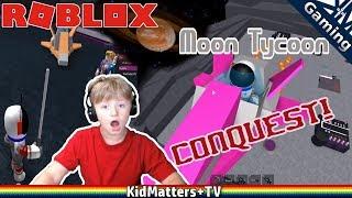 MOON CONQUEST! Roblox Moon Tycoon. Factory in Space, Claiming Planets [KM+Gaming S01E45]