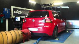 VW Golf 5 TDI 140cv GT 17/20 @ 219cv reprogrammation moteur dyno digiservices