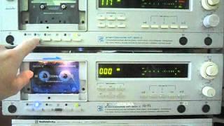 Запись на Электроника МП-204 с CDDA проигрывателя, потом перезапись с кассеты на кассету .(Делал видеообзор для одной группы в интернете для любителей магнитной записи по сей день. Когда-то у меня..., 2016-02-17T21:25:03.000Z)