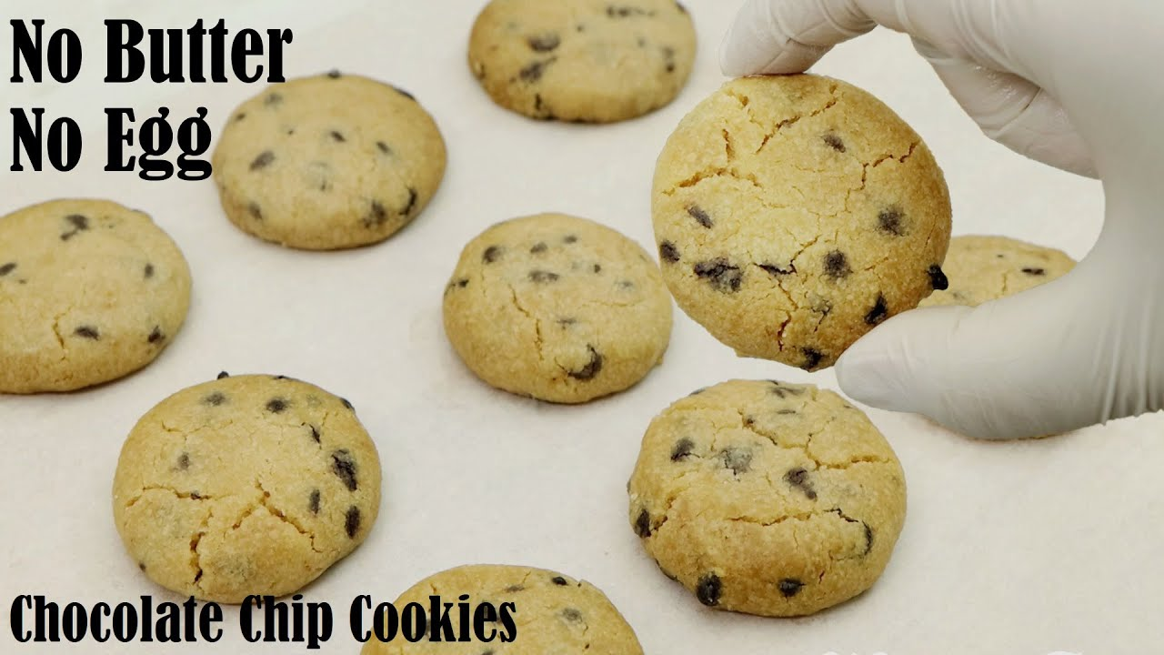 Just 15 Minutes Chocolate Chip Cookies Without Egg & Butter – How to Make Tea Time Snacks
