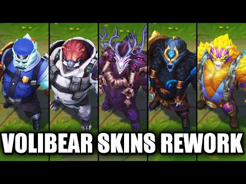 All Volibear Skins Rework 2020 (League of Legends)