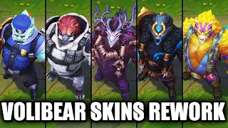 All Volibear Skins Rework 2020 (League of Legends)