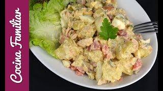 Como hacer ensalada de patatas con salsa tártara | Recetas caseras de Javier Romero