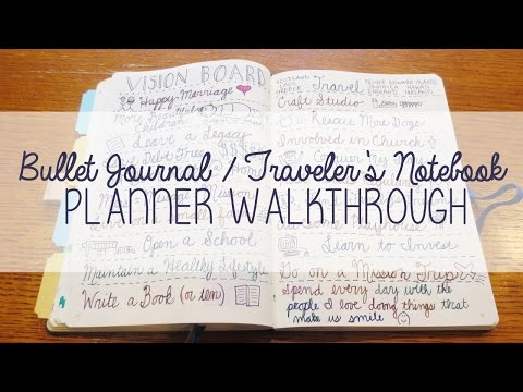 Bullet Journal / Traveler's Notebook Planner Walkthrough