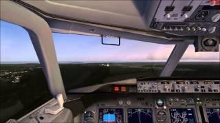 Landing a 737 at Cancun Intl - Microsoft Flight Simulator X
