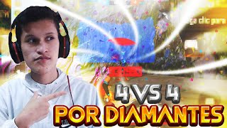 🔴FREE FIRE EN VIVO🔴SALAS 4 VS 4 POR DIAMANTES CON SUBS💎