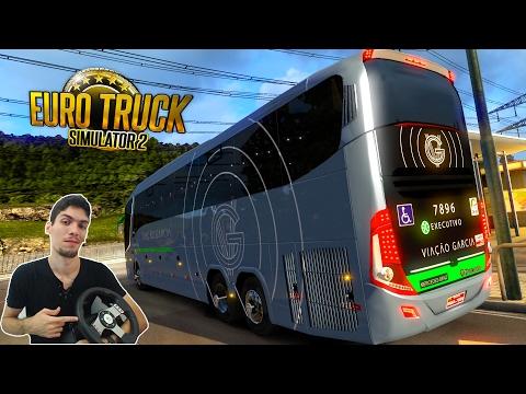 Curitiba-PR x Londrina-PR Euro Truck2 Ônibus Viação Garcia Paradiso G7-1200 com G27!