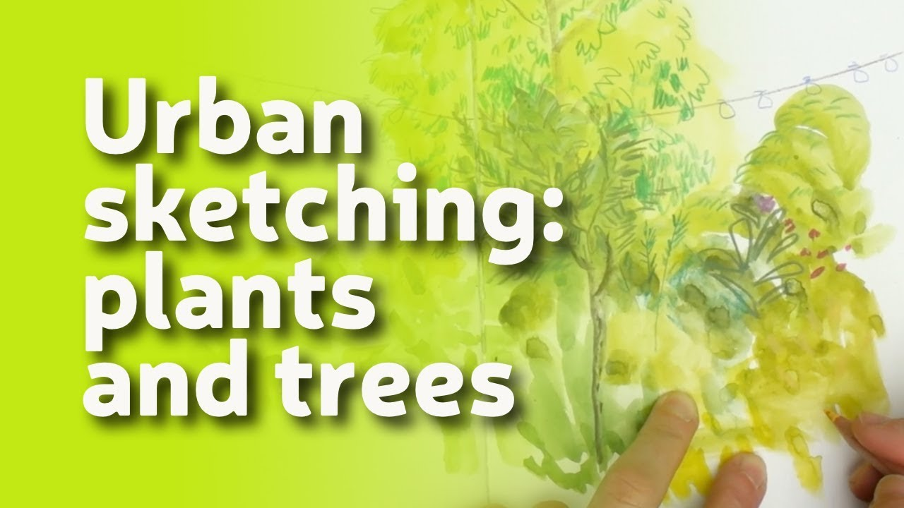 Urban Sketching: How To Draw Plants and Trees #1