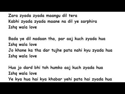 Ishq Wala Love Lyrics Full Song Lyrics Movie - Student Of The Year (2012)