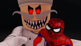 Escape Papa Pizza's Pizzeria! (SCARY OBBY) Spider-man Vs Pizza's Pizzeria! JUMPSCARES & WALKTHROUGH